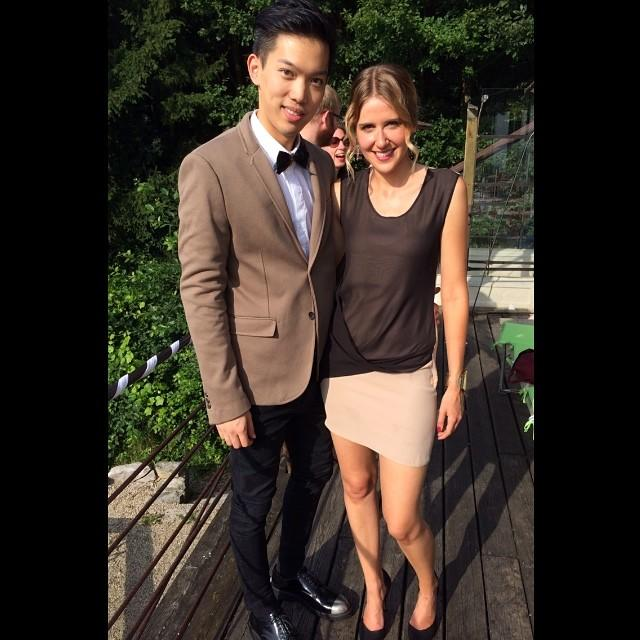 Which one is more attractive from this couple, the guy or the girl?