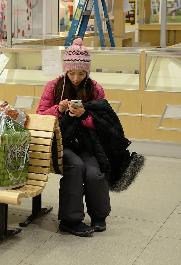 I come from a hot country, so I'm not used to cold. Here is me at a mall. What would you think?