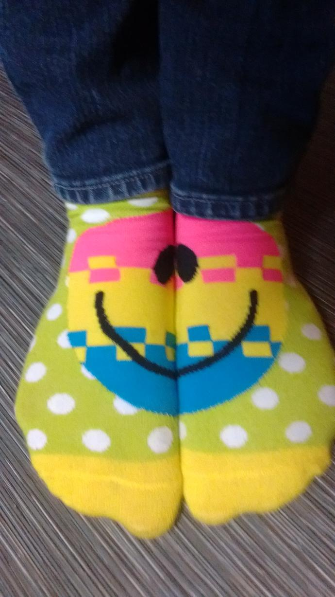 What do you think of my socks?
