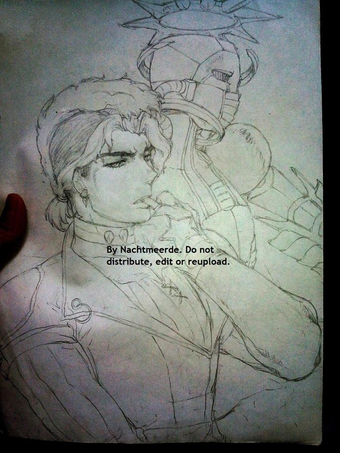 Any fans of Jojo's Bizarre Adventures out there? What do you think of my art?