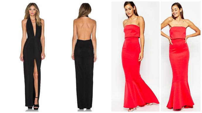 Which dress is more elegant (and most flattering) for a formal event?