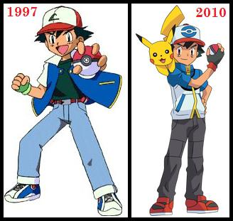 How Ash Ketchum never aged after almost 2 decades and even got shorter as well?