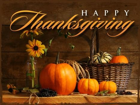 Thanksgiving is this week, what are you thankful for?