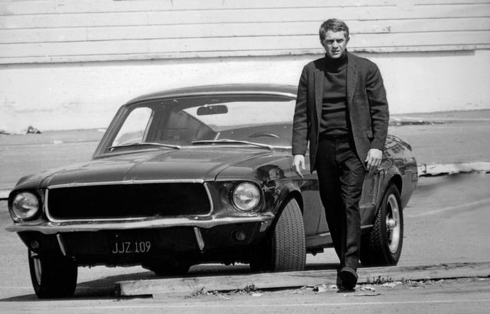 What kind of pants is Steve McQueen wearing in these pictures?