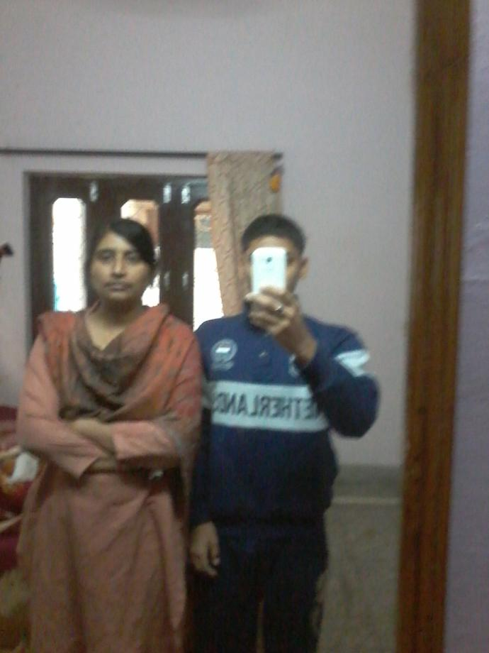 Hey please tell who is looking more taller in this pics?