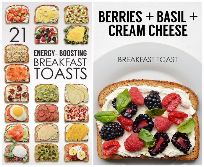 Do you like to eat Toasts at the morning?  21 Boosting Breakfast Toasts,Which one you will choose?