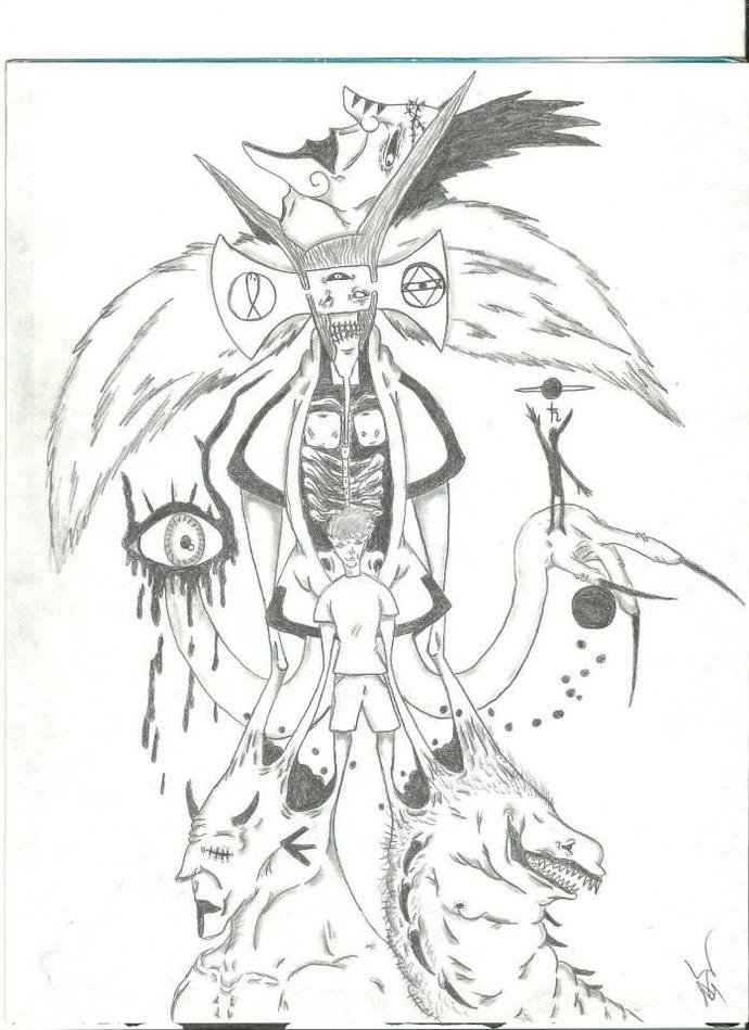 My friend drew this picture. What does it mean?