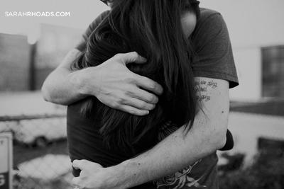 Girls, did you ever notice that when you hug a guy you're close to ...