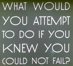 If you had the confidence & courage,and you knew you couldn't fail: What would you attempt to do ?