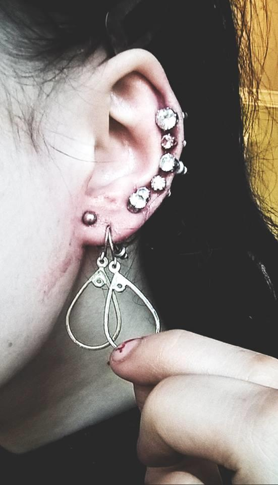 Guys, Do you like this style of ear piercings? (:?