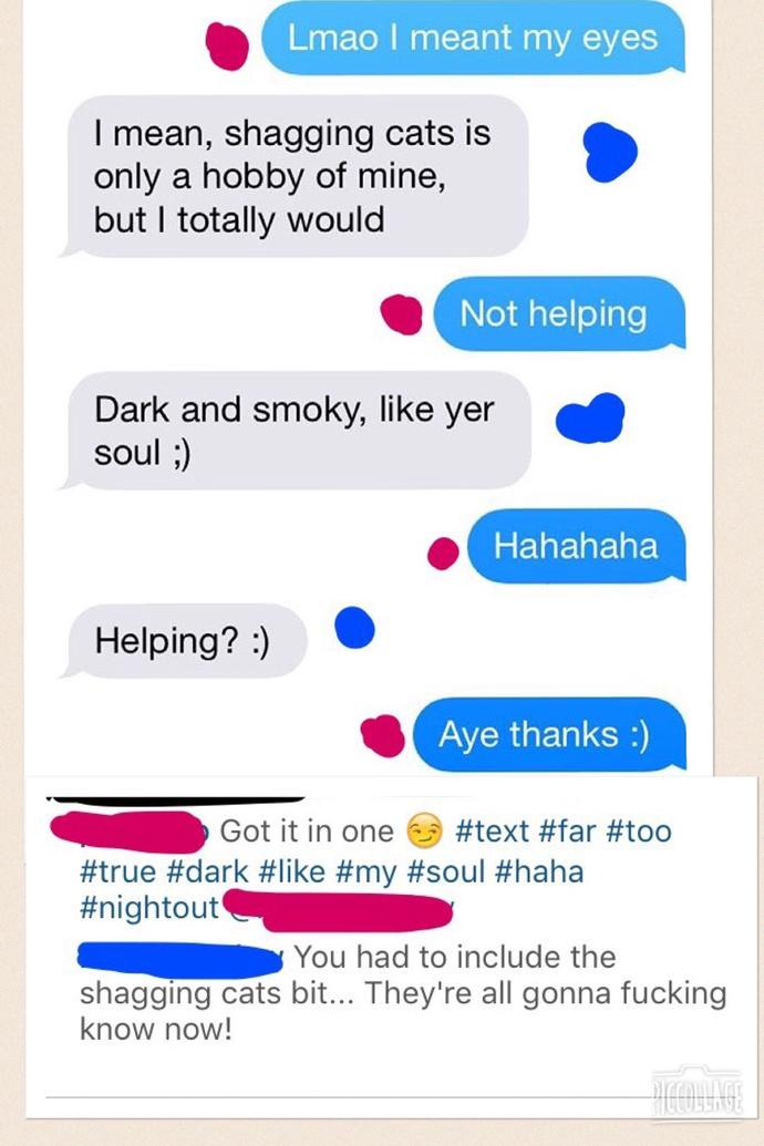 Is this a flirty/sexual conversation? Clever people, help! Looking for MHO...?