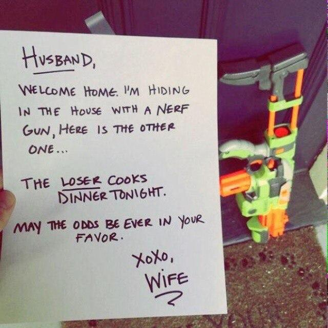 How great would it be to come home from work and you see this note?