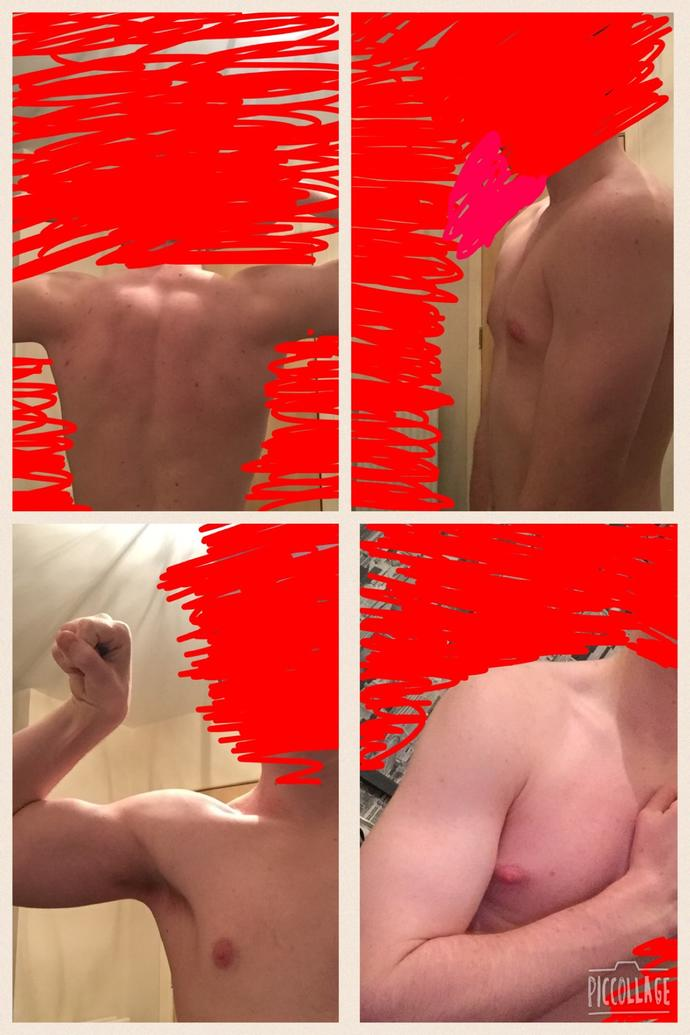 What do you guys think 8 months of hard work at the gym?