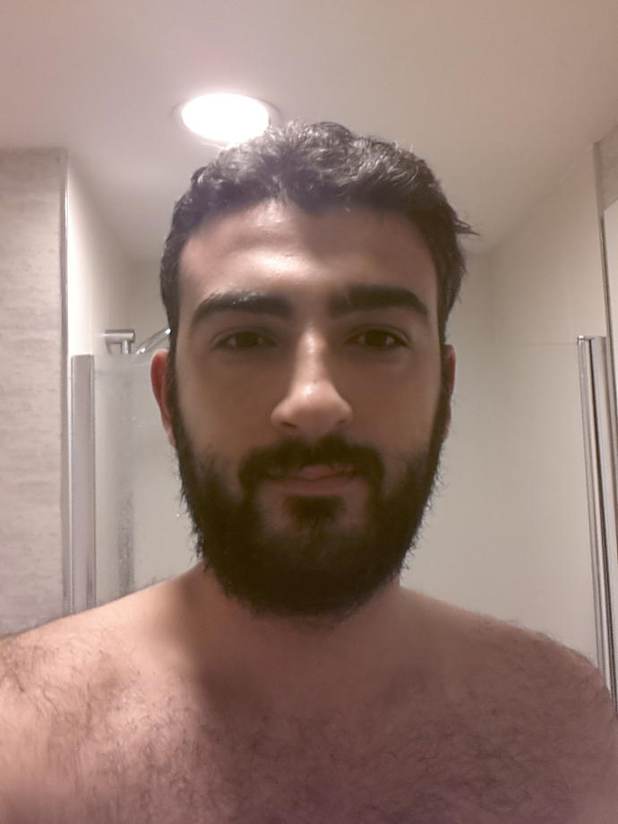 with beard or without?