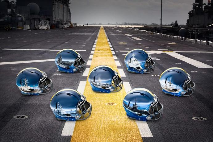 Which helmets for the Army-Navy game do you like more?