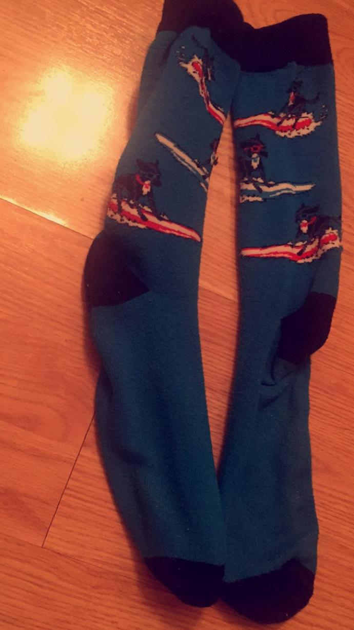 What do you think of my socks ?