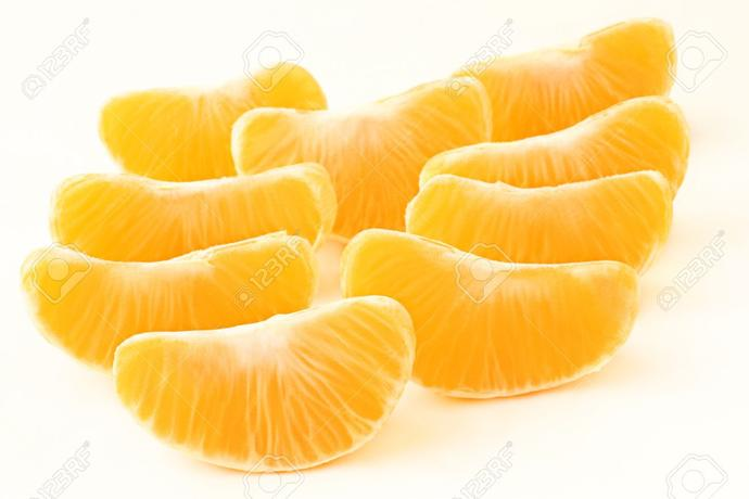 Which citrus fruit (peeled) would you like to put under your toes?