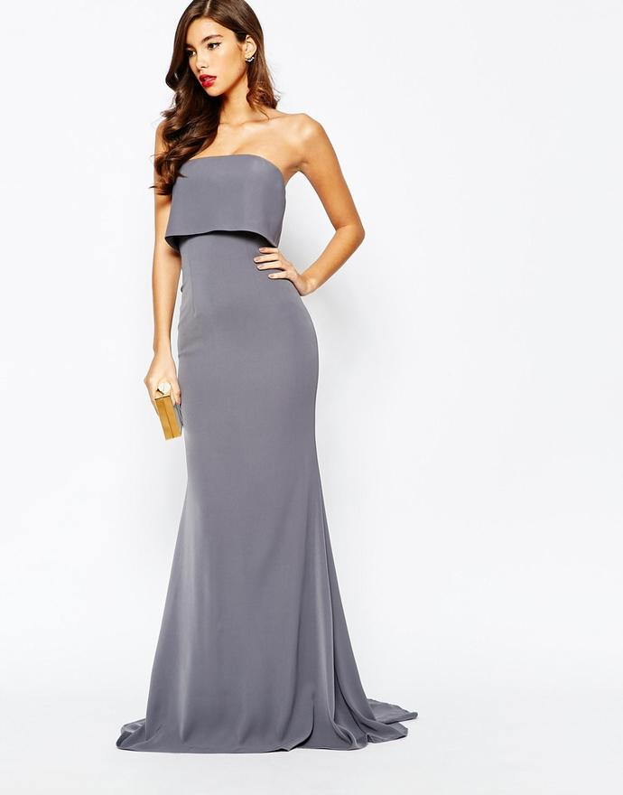 Which grey evening dress is more beautiful?