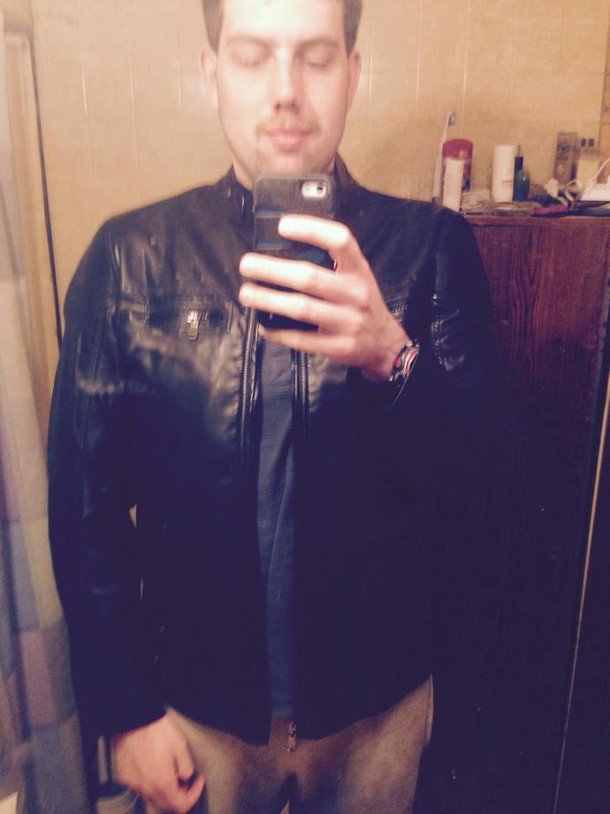 Girls, do you think I look good in leather (not real leather) jacket? I'm trying to change my look and want feedback?
