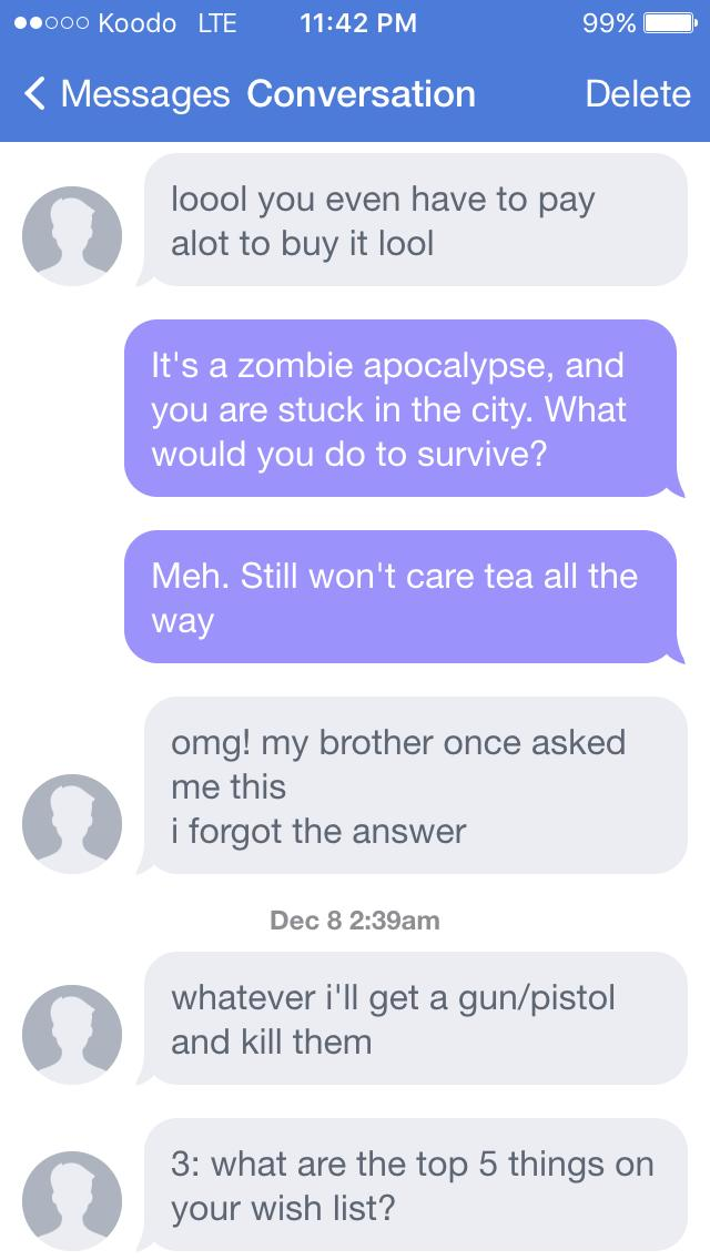 What the hell did I do wrong, Killing the conversation?