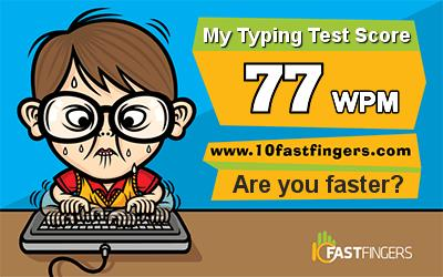 (Test) How fast can you type?