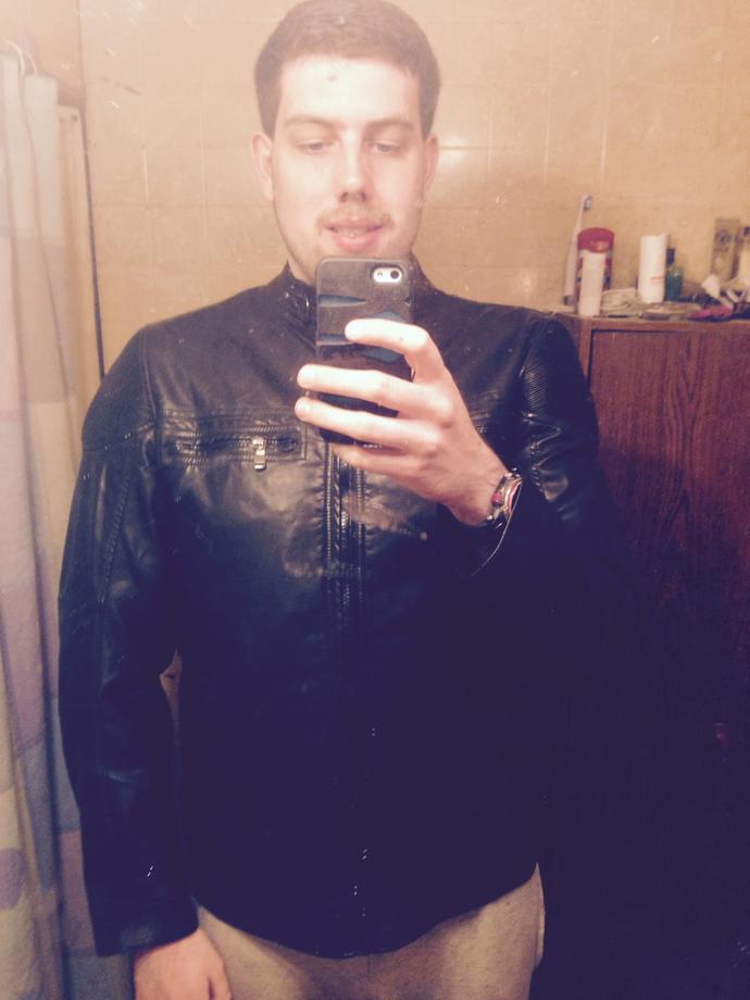 Girls, do you think I look good in this leather jacket?