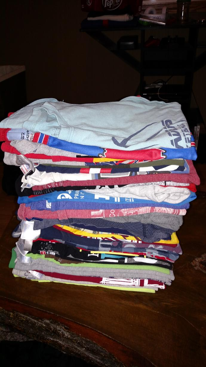 Is 40+ shirts a lot for a guy?