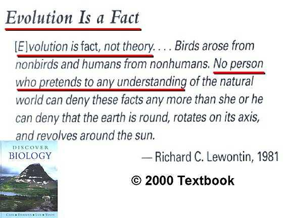 Why do some people think evolution is a theory when it is a fact?