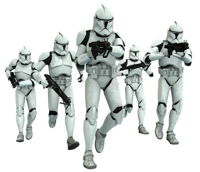 Star Wars NERD question! Did the Clone troopers become the Storm Troopers?