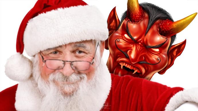 Do you really think its mere coincidence that Santa is an anagram of Satan?
