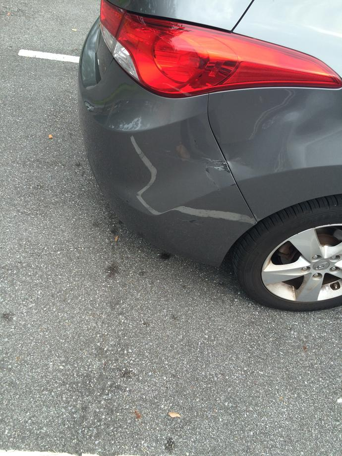 Is this really considered a detrimental car dent? Is it really that obvious?