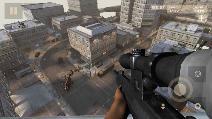 You are outside walking when you look up and notice a sniper aiming at something, what do you do?