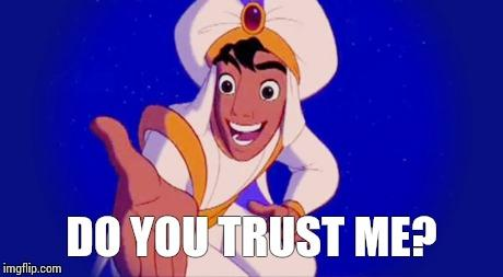 Girls, would YOU have trusted Aladdin to go with him on a Magic Carpet ride?