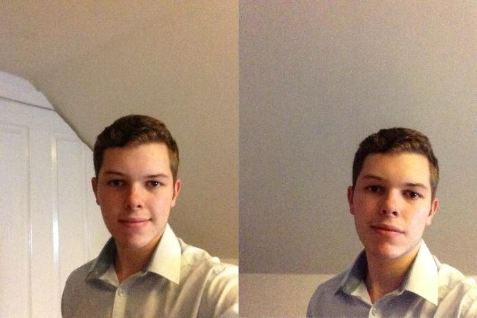 Which picture of me looks better?