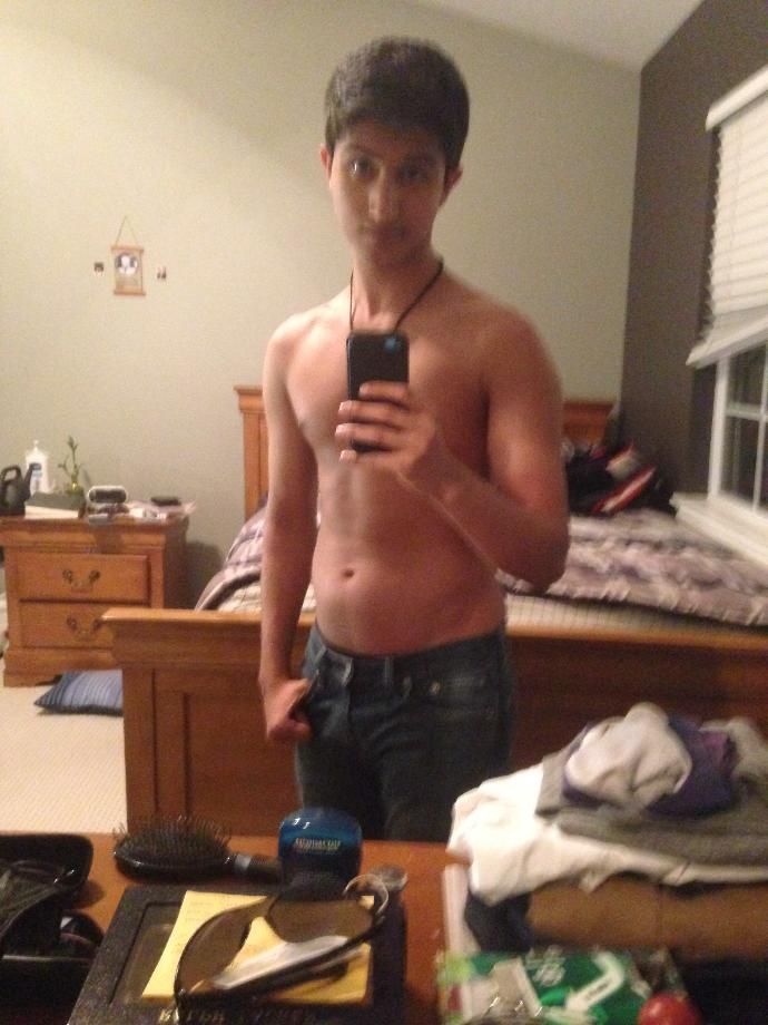 Beware fellow men and women, I am shirtless in this photo, out of curiosity how do I look shirtless?