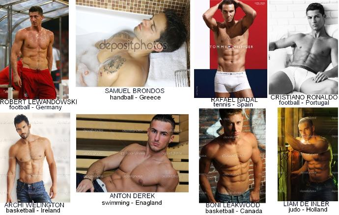 Girls, there are the 8 HOT sportsmen to 2015, who is better ?