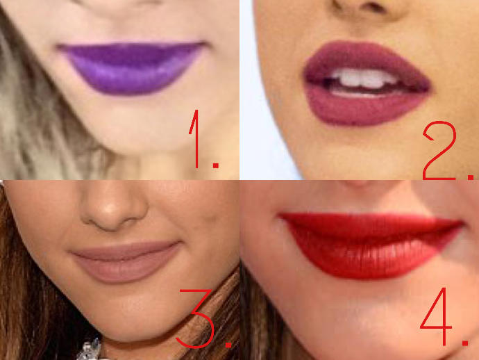 Which lip color do you like out of these?