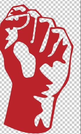 What raised fist means?
