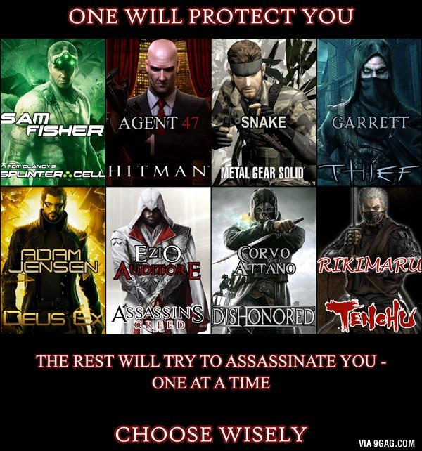 ONE will PROTECT you , the other SEVEN will try to KILL you - who would you choose to save you?