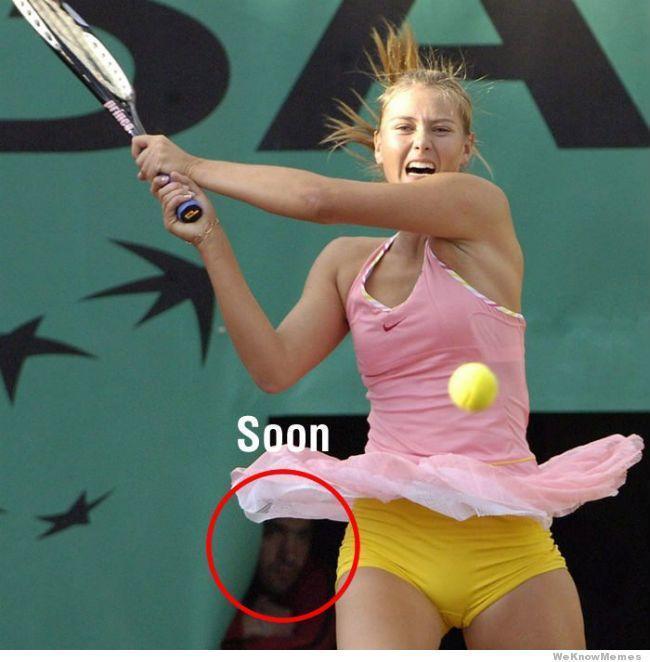 Gag bro spying on Maria Sharapova?