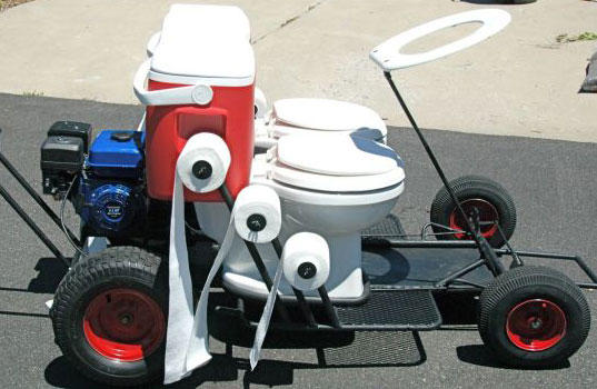 What would you do if your date canceled due to diarrhea, and without warning showed up for the date driving this?
