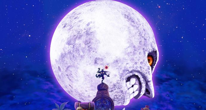 What did you expect to see the first time you entered the moon in Majora's Mask?