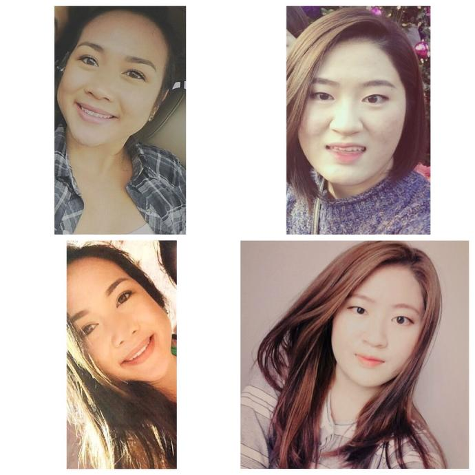 Which girl looks like the half Asian girl?