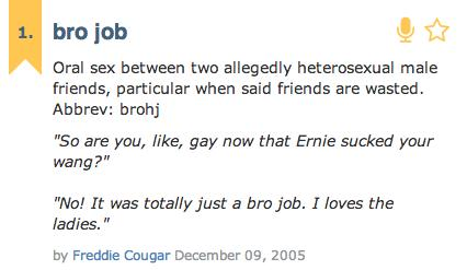 """#NotGay: So, Is Giving a """"Bro-Job"""" Really a Thing with Straight Guys?"""