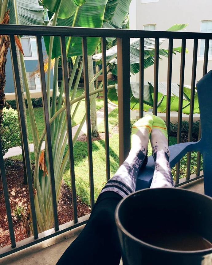 Do you drink coffee on your porch?