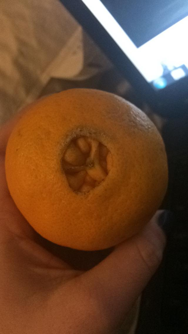 Why the the orange peel has this thing on the bottom?