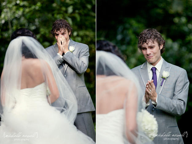 How likely is it for the groom to cry at his own wedding?