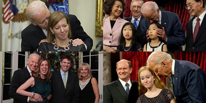 Why does  Joe Biden touch people a lot?