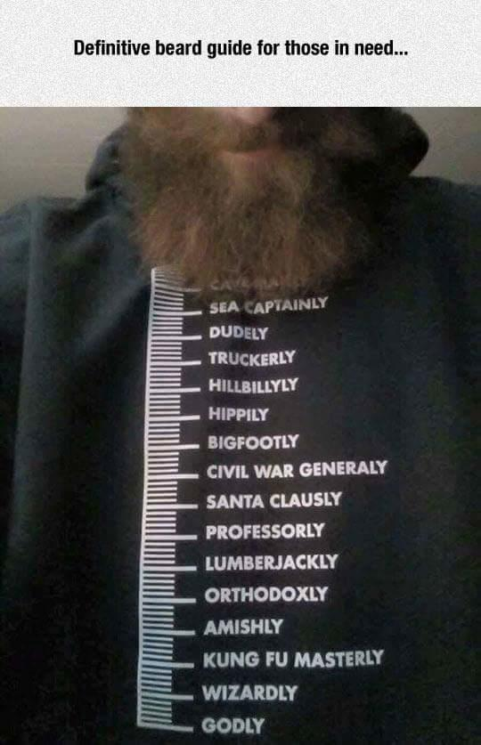 What level is your beard at?