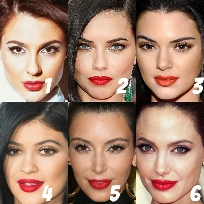 Who wears red lipstick the best?